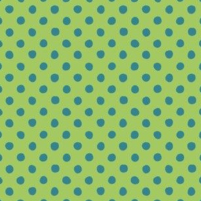 Jardin Loco-Dotty-Blue on Green