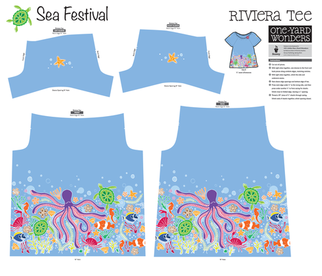 Sea Festival Little One Yard Wonders Riviera Tee fabric by holladay on Spoonflower - custom fabric