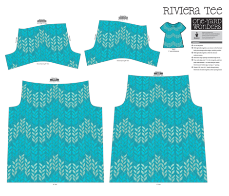 Riviera T-shirt in blue and silver sea grasses fabric by su_g on Spoonflower - custom fabric