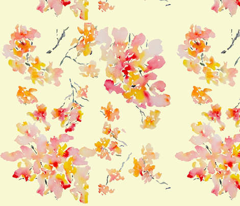 Soft Blossoms fabric by susan_magdangal on Spoonflower - custom fabric