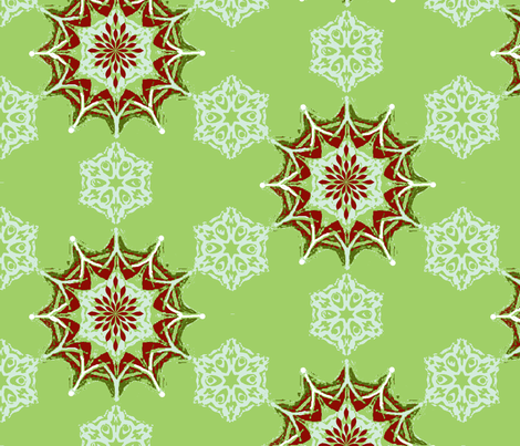 christmas snow fabric by kerryn on Spoonflower - custom fabric