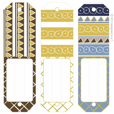 El Pueblo Gift Tags fabric by designedtoat on Spoonflower - custom fabric