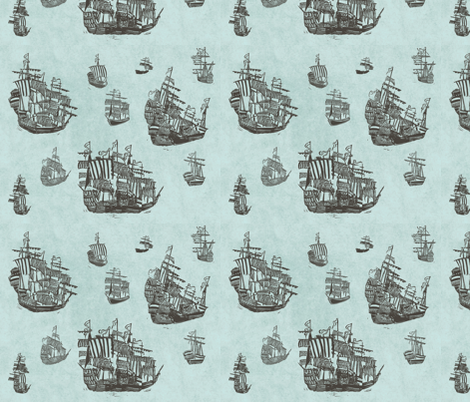 The big journey fabric by loeff on Spoonflower - custom fabric