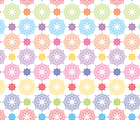 snowflakes fabric by darlingdearest on Spoonflower - custom fabric