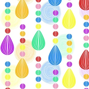 Candy Rain scribble background large