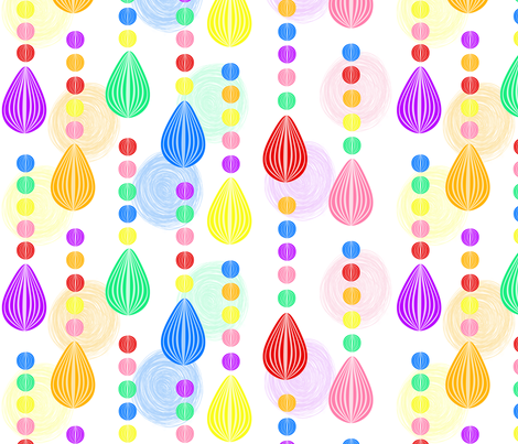 Candy Rain scribble background medium  fabric by glanoramay on Spoonflower - custom fabric