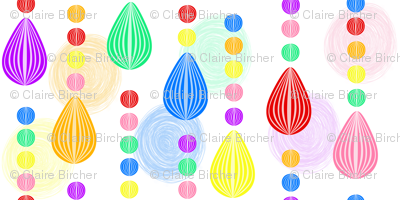 Candy Rain scribble background tiny