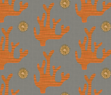 coral fabric by mummysam on Spoonflower - custom fabric