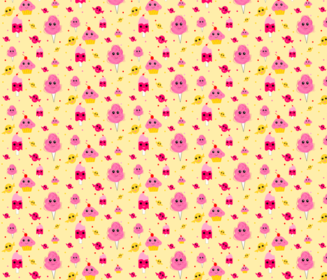 Kawaii Sweets fabric by ninjaauntsdesigns on Spoonflower - custom fabric