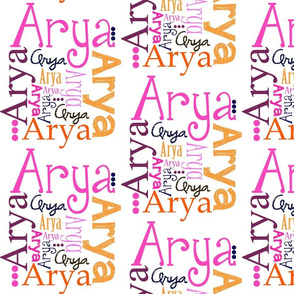Arya Name Fabric
