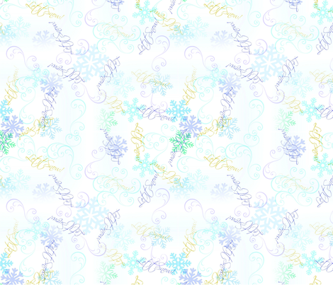 Let it Snow! fabric by midnightsun on Spoonflower - custom fabric