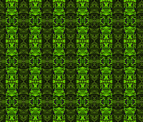 Green Fractal Stripes in Mirror Repeat fabric by anniedeb on Spoonflower - custom fabric