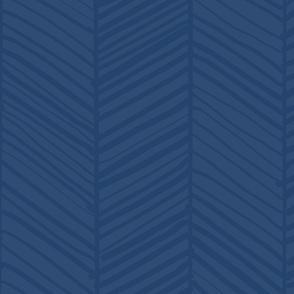 Herringbone - Indigo Blue