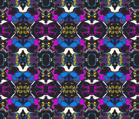 Dots Fractalized into a Mirror Repeat fabric by anniedeb on Spoonflower - custom fabric