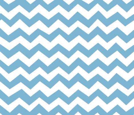 Chevron Dusk Blue fabric by friztin on Spoonflower - custom fabric