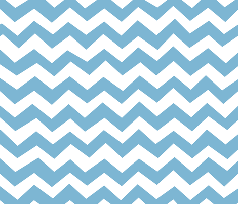 Chevron Dusk Blue fabric by friztin on Spoonflower - custom fabric