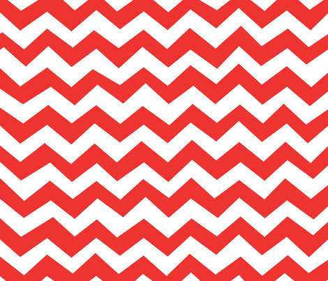 Chevron Poppy Red fabric by friztin on Spoonflower - custom fabric