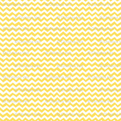 Chevron Lemon Zest Yellow