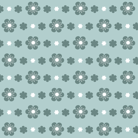 Simple Flower Trim in Blue fabric by tradewind_creative on Spoonflower - custom fabric