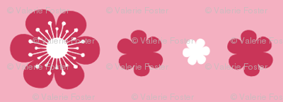 Simple Flower Trim in Pink