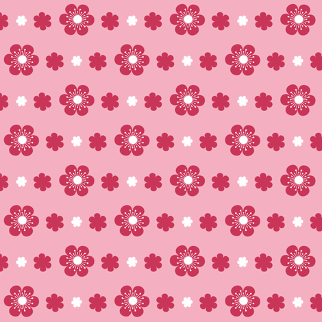 Simple Flower Trim in Pink fabric by tradewind_creative on Spoonflower - custom fabric