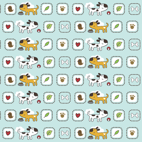 Dog Park Trim fabric by tradewind_creative on Spoonflower - custom fabric