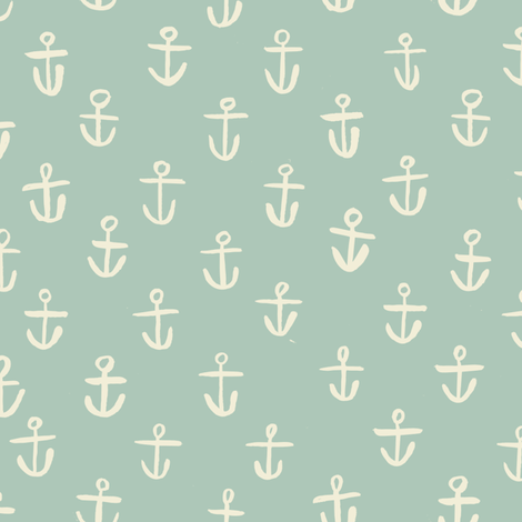 ANCHORS-BLUE fabric by gsonge on Spoonflower - custom fabric