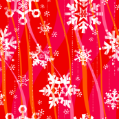 Grunge Snowflakes - Pink