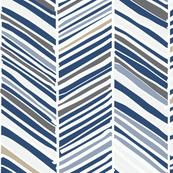 Herringbone Hues of Monaco Blue by Friztin