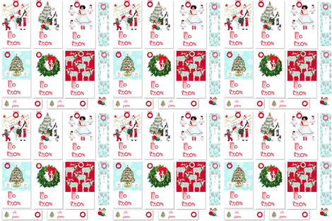 Christmas Tags fabric by karenharveycox on Spoonflower - custom fabric