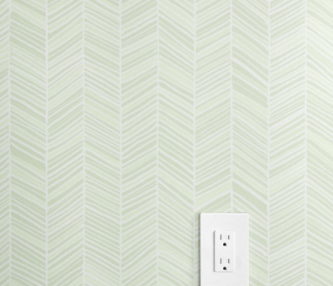 Herringbone Hues of Mint by Friztin