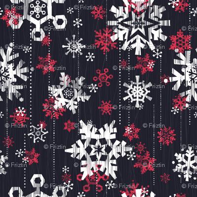 Grunge Snowflakes Navy