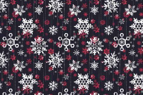 Grunge Snowflakes Navy fabric by friztin on Spoonflower - custom fabric