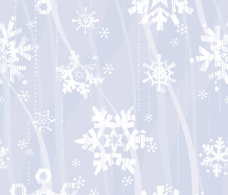 Grunge Snowflakes - Blue fabric by friztin on Spoonflower - custom fabric