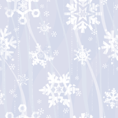 Grunge Snowflakes - Blue