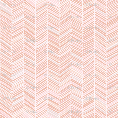Herringbone Hues of Pastel Peach by Friztin