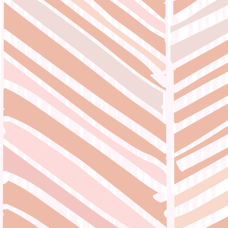 Herringbone Hues of Pastel Peach by Friztin fabric by friztin on Spoonflower - custom fabric