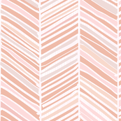 Herringbone Hues of Pastel Peachy Pink by Friztin