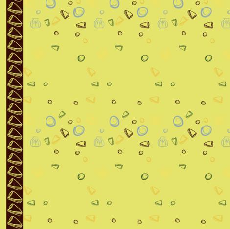 Shell Stripe Yellow fabric by yewtree on Spoonflower - custom fabric