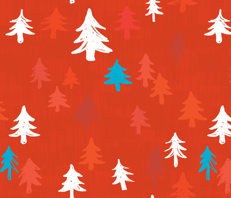 Xmas Trees fabric by friztin on Spoonflower - custom fabric