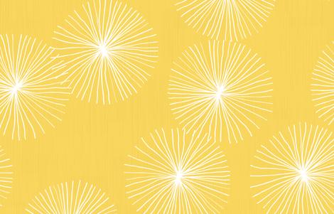 Dandelions - Yellow fabric by friztin on Spoonflower - custom fabric