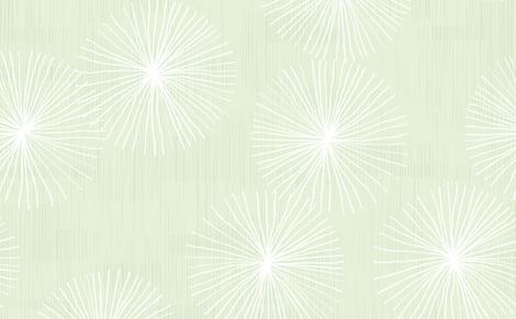 Dandelions in Mint by Friztin fabric by friztin on Spoonflower - custom fabric