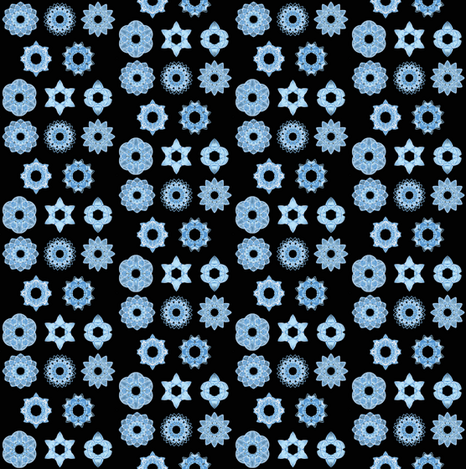 Snowflakes at night fabric by mihaela_zaharia on Spoonflower - custom fabric