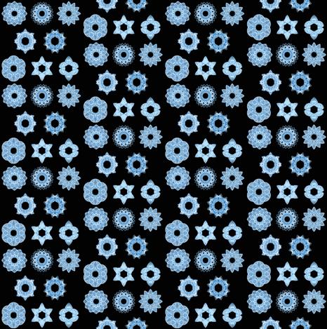 Snowflakes at night fabric by mihaela_zaharia on Spoonflower - custom fabric