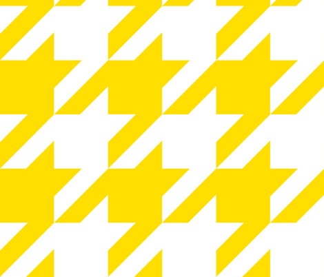 The Houndstooth Check - Sunshine fabric by peacoquettedesigns on Spoonflower - custom fabric