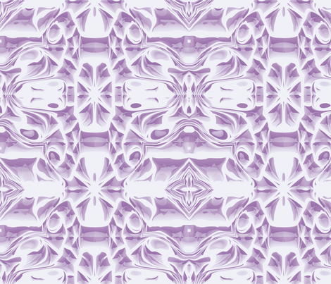 Lilac Snowflake Swirls fabric by animotaxis on Spoonflower - custom fabric