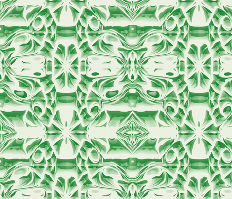 Emerald Snowflake Swirls fabric by animotaxis on Spoonflower - custom fabric