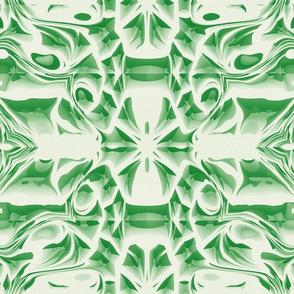 Emerald Snowflake Swirls