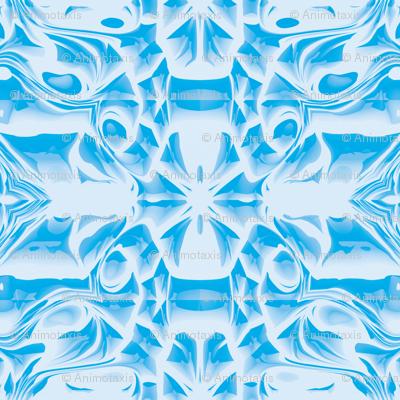 Sky Blue Snowflake Swirls