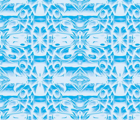 Sky Blue Snowflake Swirls fabric by animotaxis on Spoonflower - custom fabric